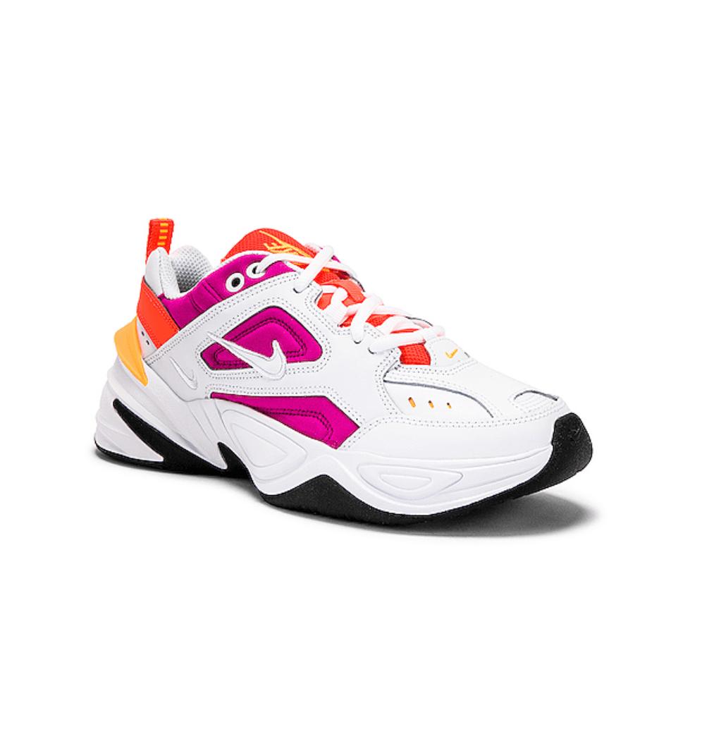 revolve neon white sneaker