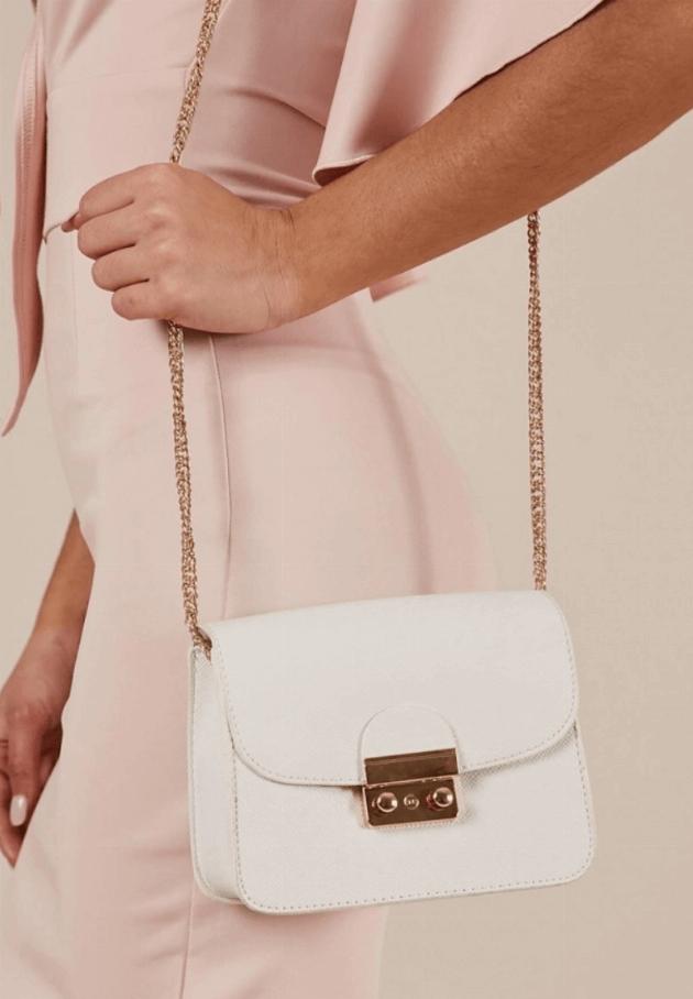 showpo white crossbody bag
