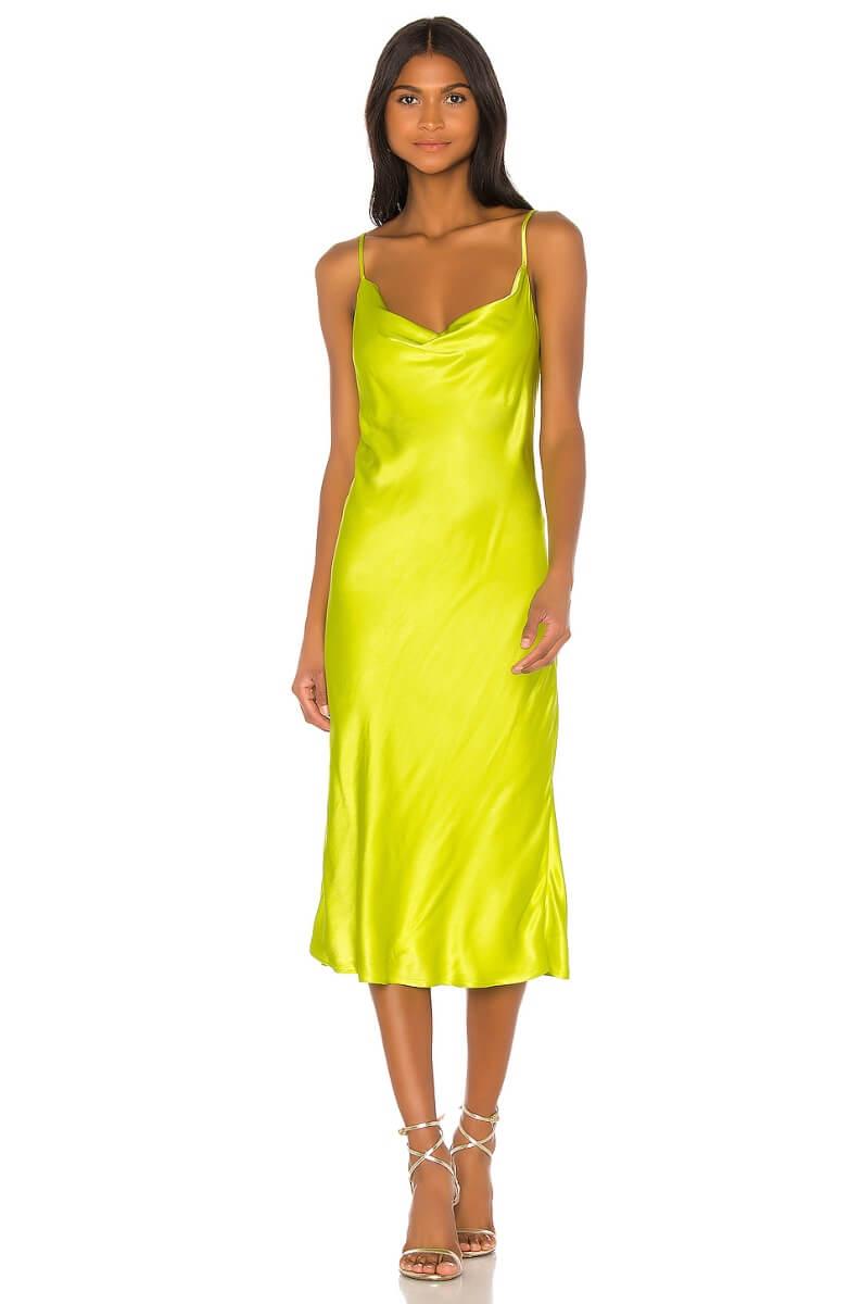 neon slip dress