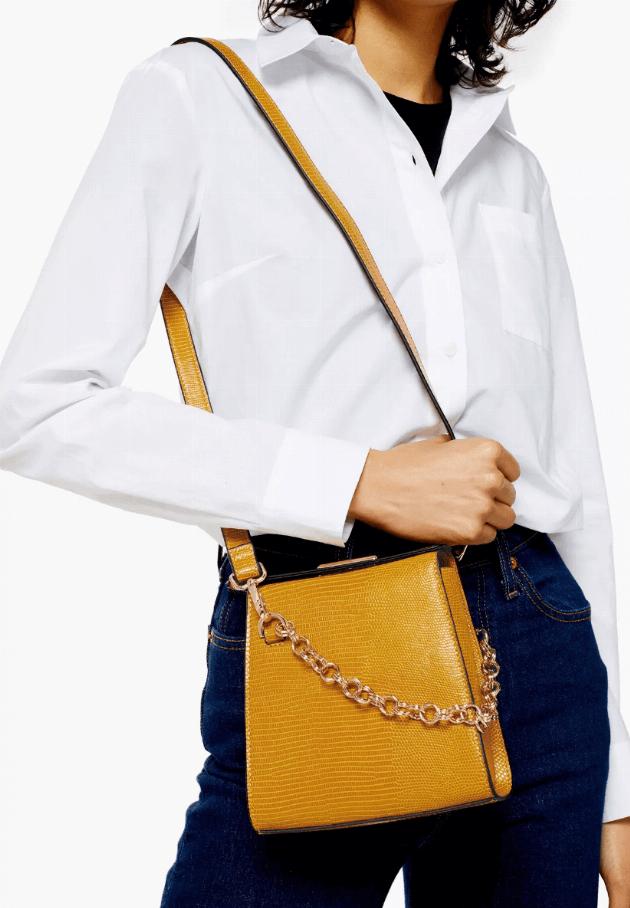 topshop mustard crossbody bag
