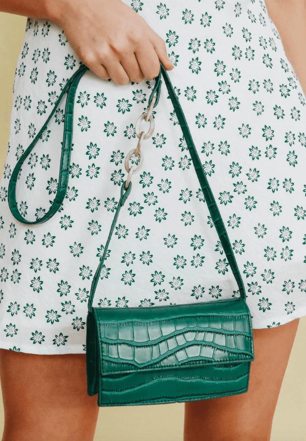 verge girl green crossbody bag