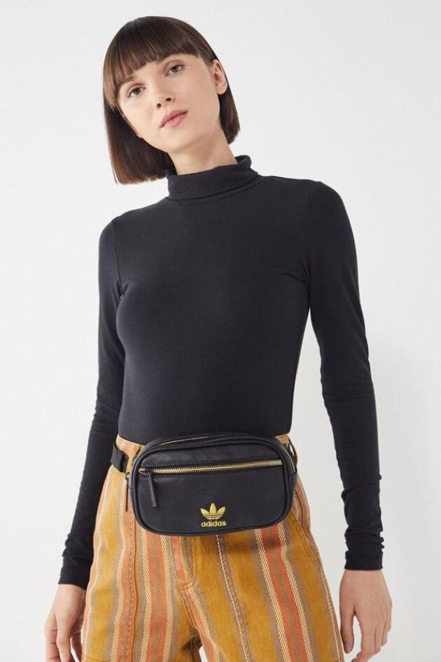 black adidas fanny pack