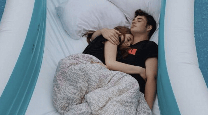 cuddling with crush