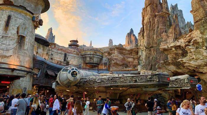 Instagram: Millenium Falcon at Smugglers Run, Galaxy's Edge Disney