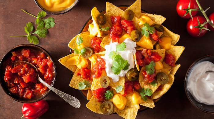 Shutterstock: Plate of tasty nacho chips