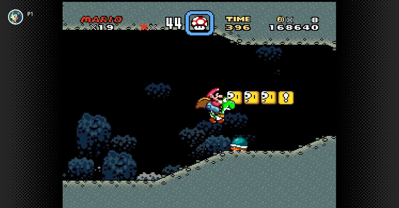 SNES Switch Online: Super Mario World cave