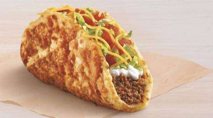 Taco Bell official photo of Toasted Cheddar Chalupa