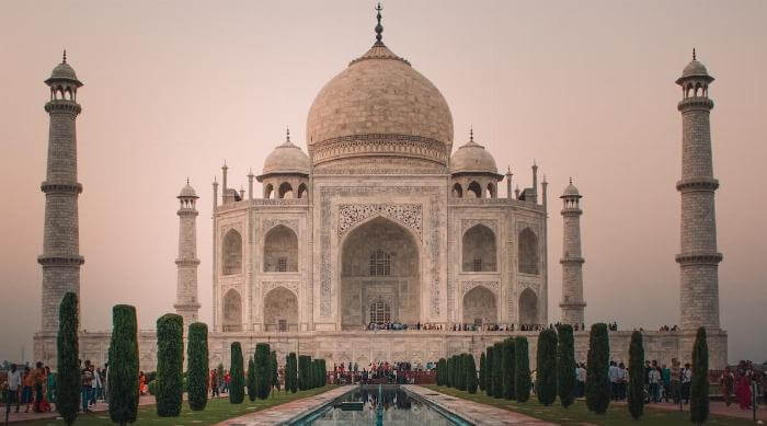 Unsplash: Taj Mahal architecture over reflecting pool