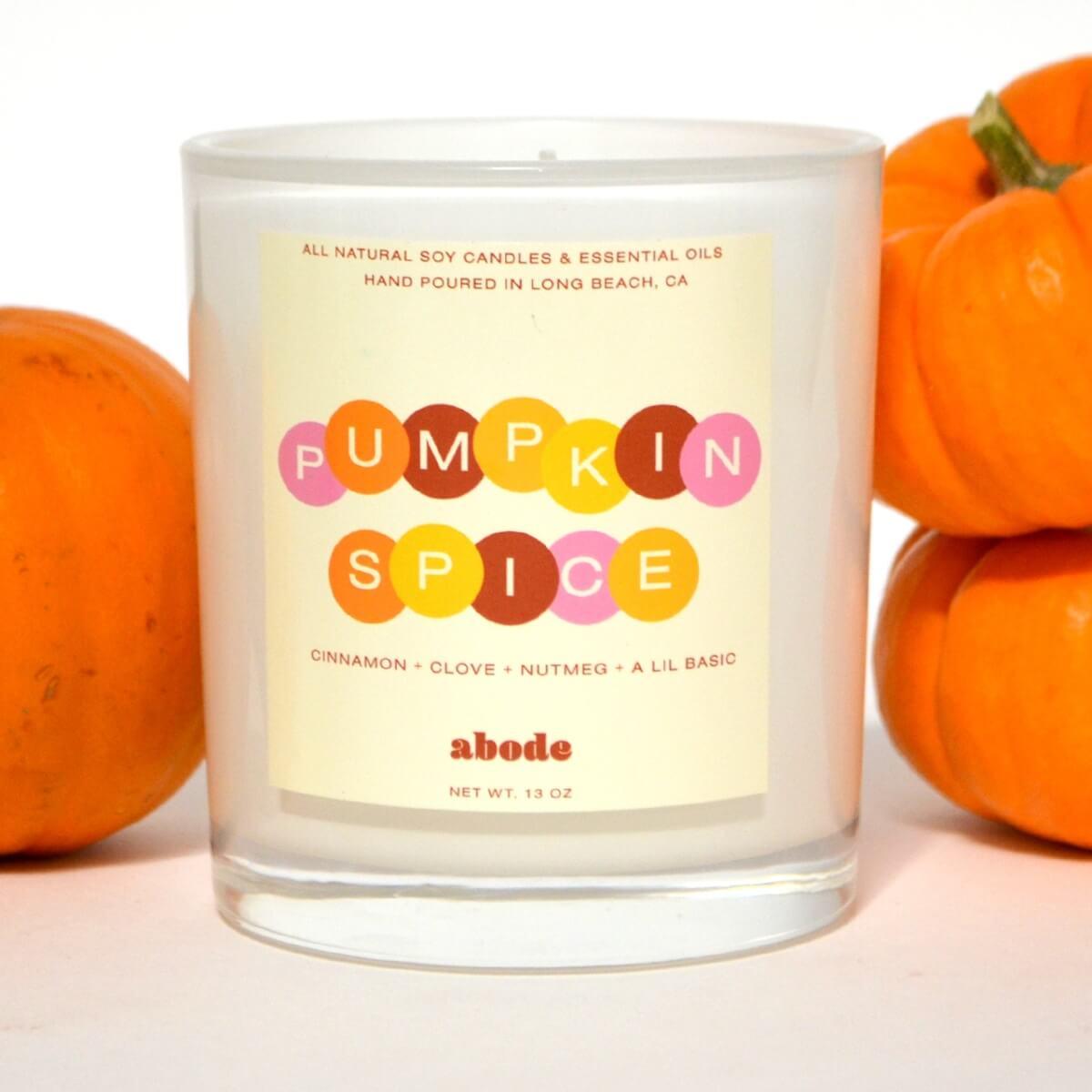 abode pumpkin candle