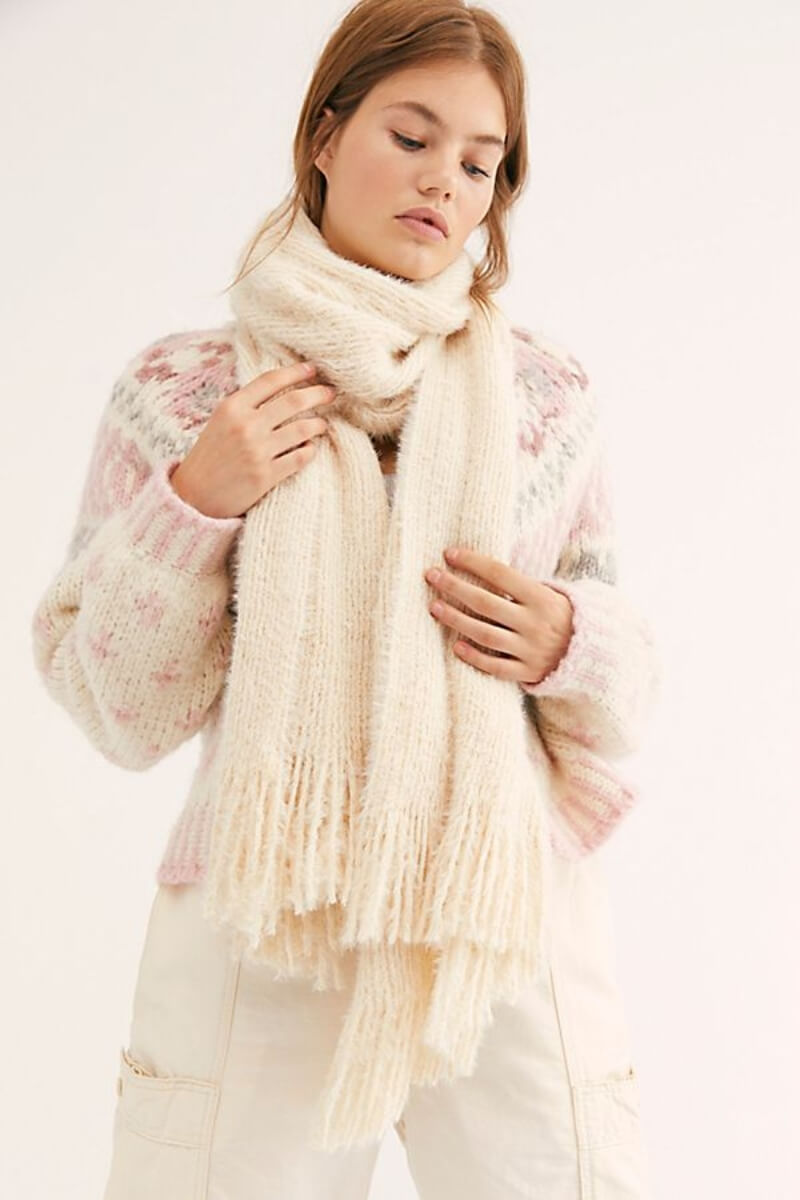 comfy ivory scarf