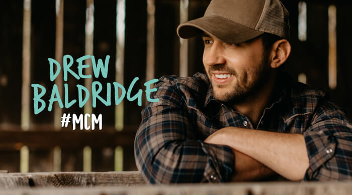 Drew Baldridge country singer man crush monday