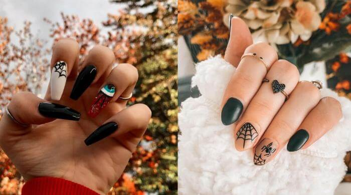 halloween nail art design