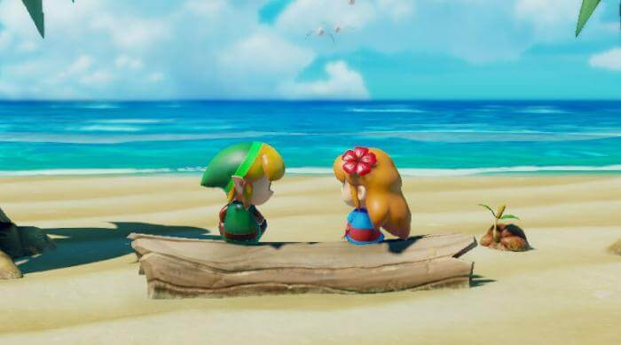 Link's Awakening: Cute link and Marin