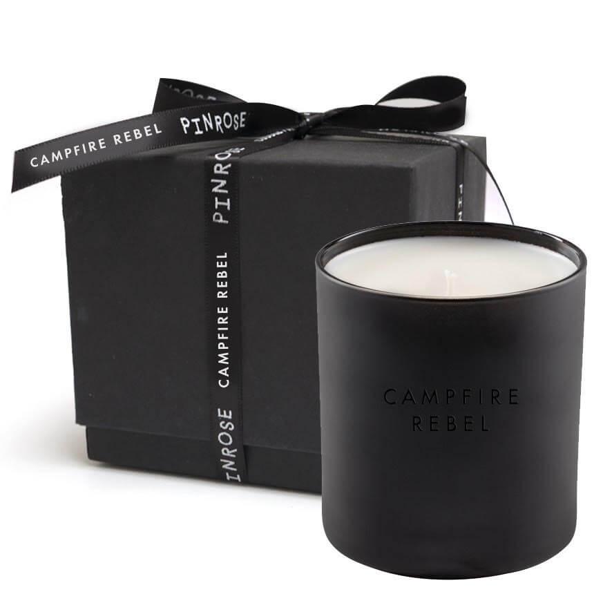 pinrose black candle
