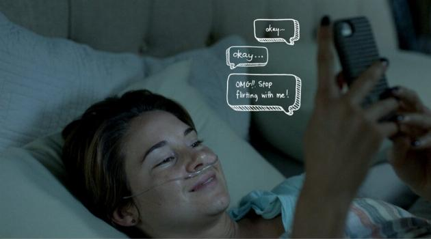 The Fault in Our Stars: Hazel texting in bed