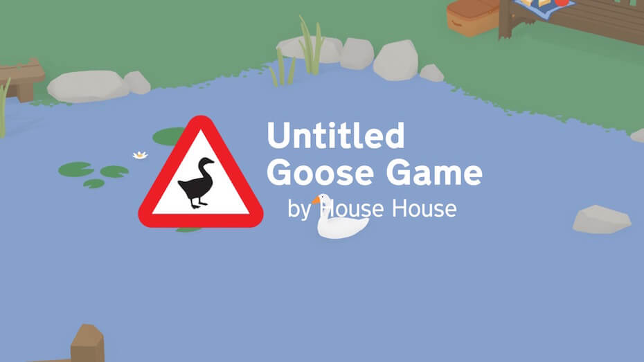 Untitled Goose Game: Title screen