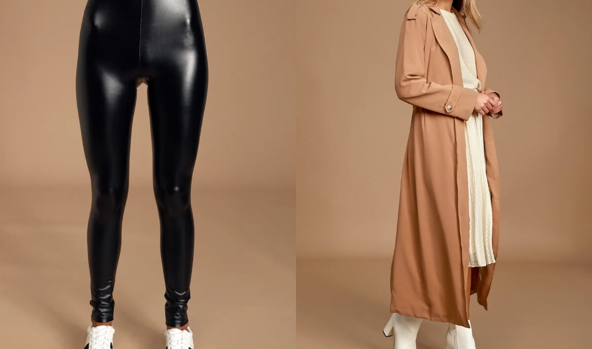 leather pants and trench coat