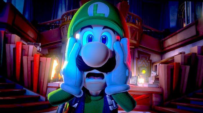 Luigi's Mansion 3: Luigi scared Home Alone face
