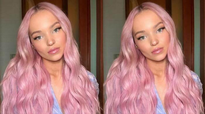 dove cameron pink hair