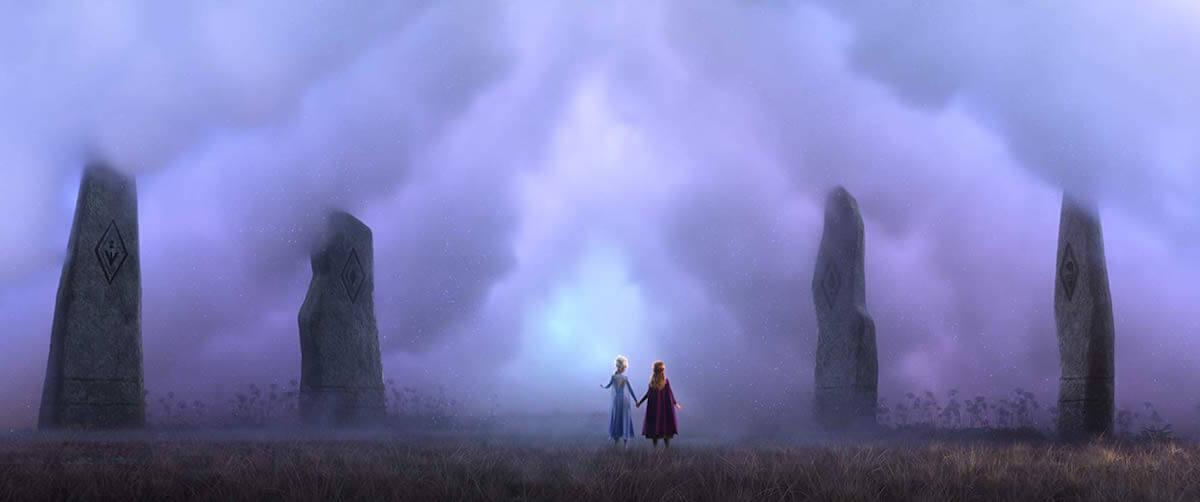 Elsa and Anna in Frozen II