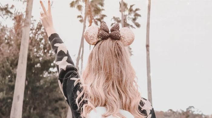 Minnie Mouse Ears and a Backpack