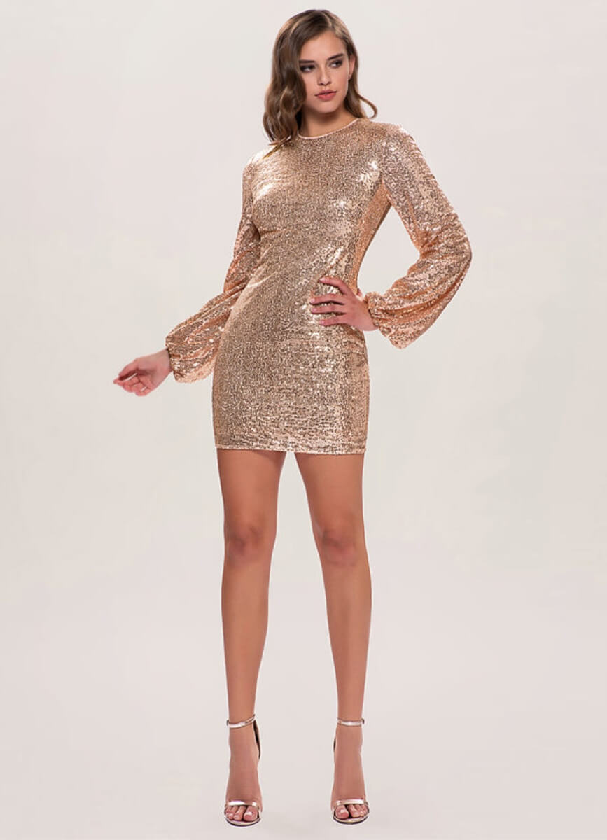 sequin nye dress