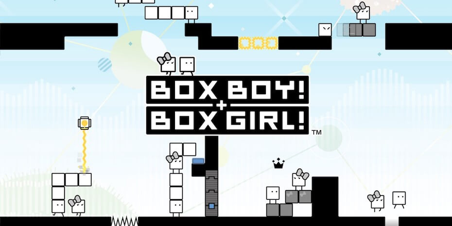 Boxboy + Boxgirl title screen