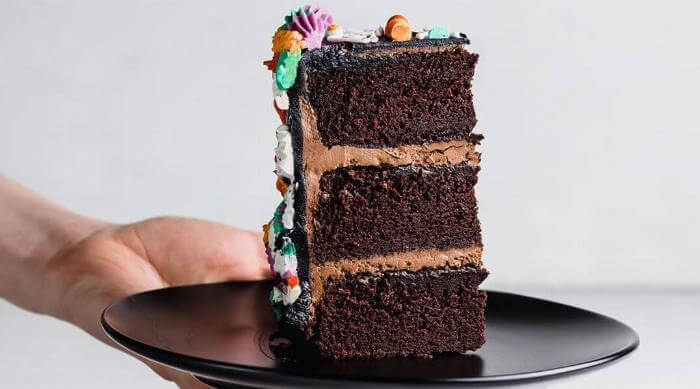 A Chocolate Cake Slice