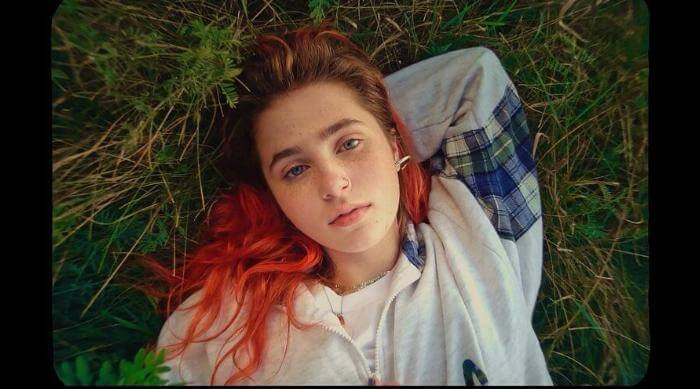 Clairo's Emo Photo With Red Hair