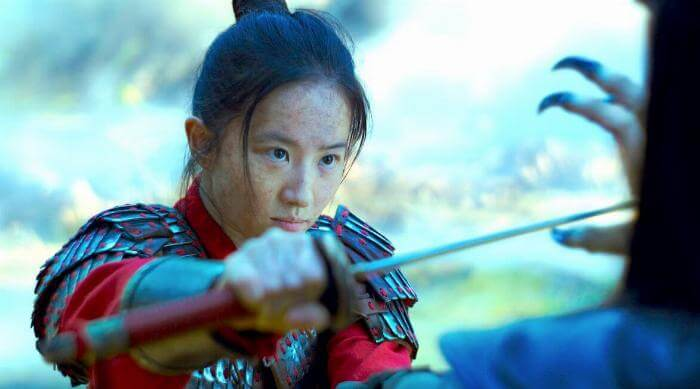 Mulan: Live action movie Hua Mulan with sword