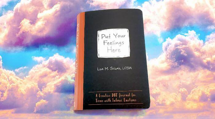 Put Your Feelings Here journal cover