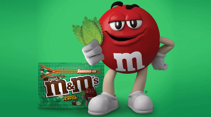 M&M's Crispy Mint Chocolate Art