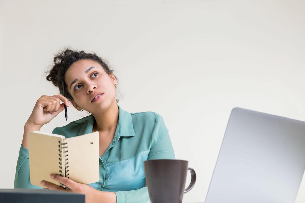 shutterstock-woman-alone-daydream-coffee-notebook
