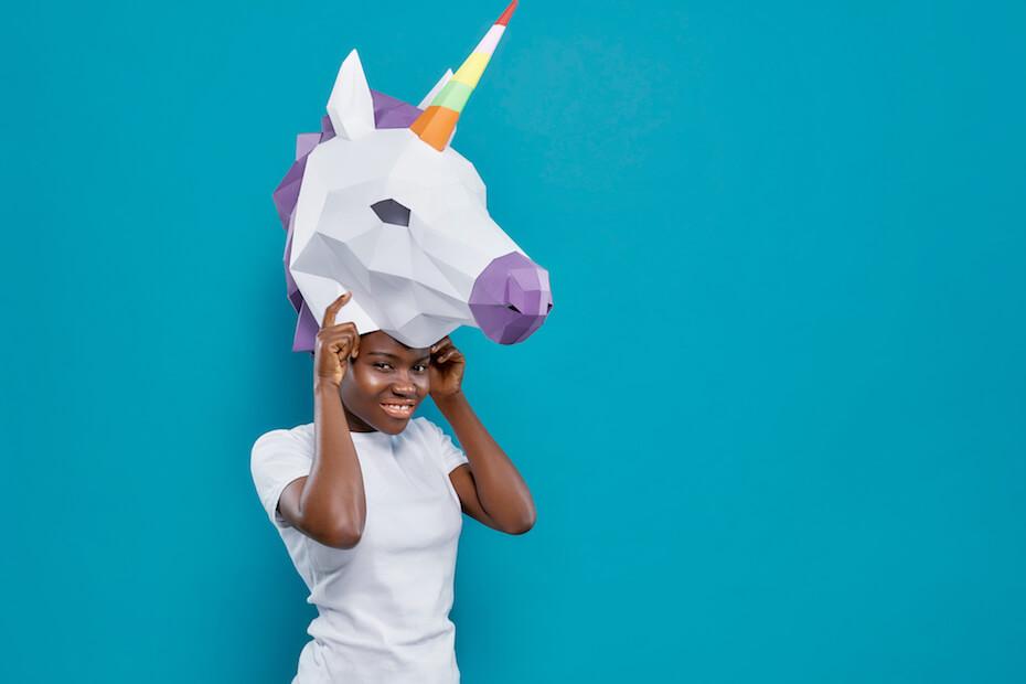 shutterstock-woman-wearing-3d-printed-unicorn-mask-022120