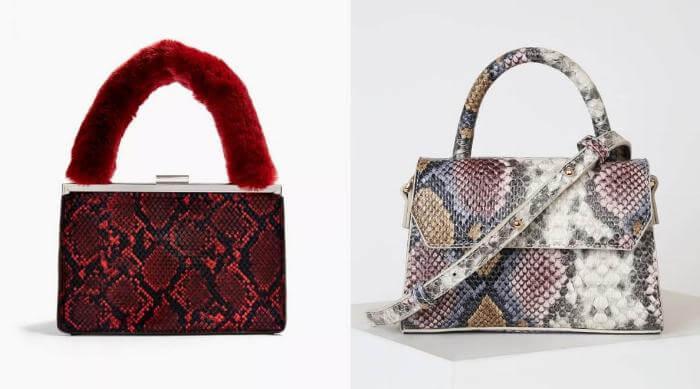snakeskin purses