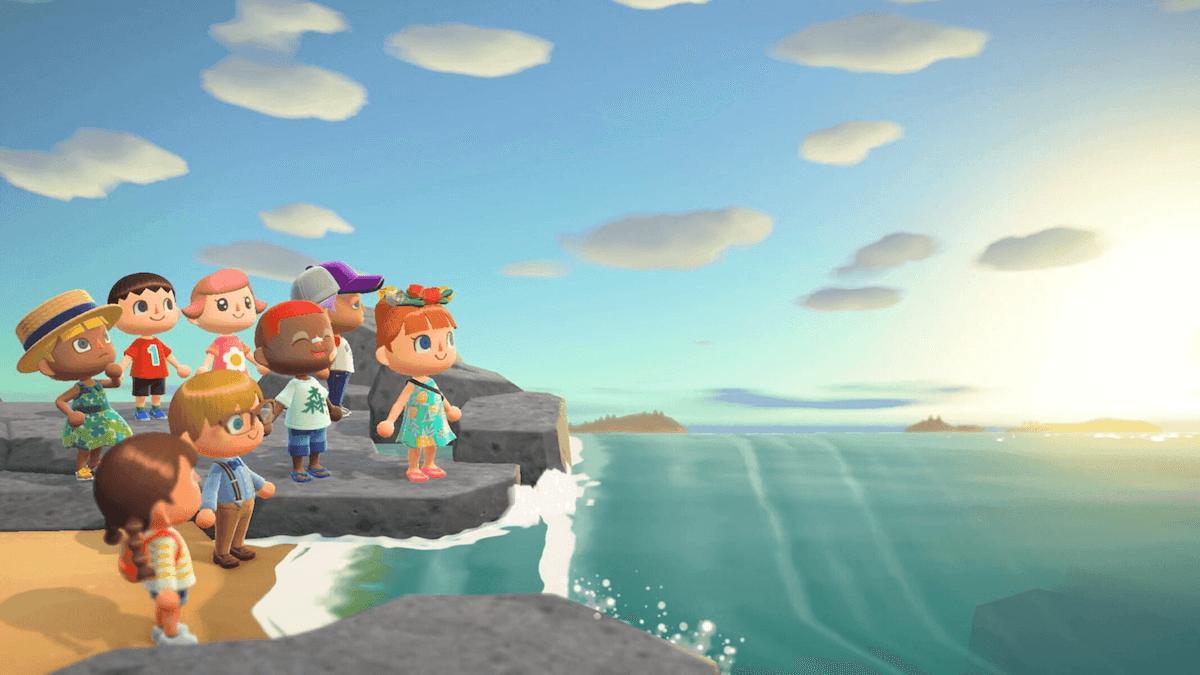 animal-crossing-new-horizons-island-meetup-sunset