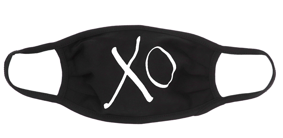 Giftgowns: Simple XO Face Mask