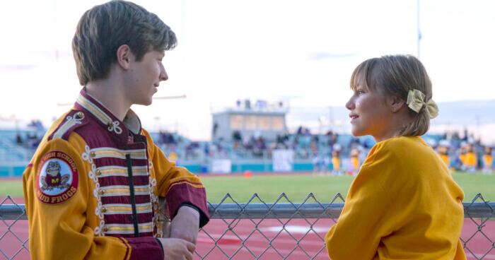 grace vanderwaal and stargirl costar flirting at school sports game