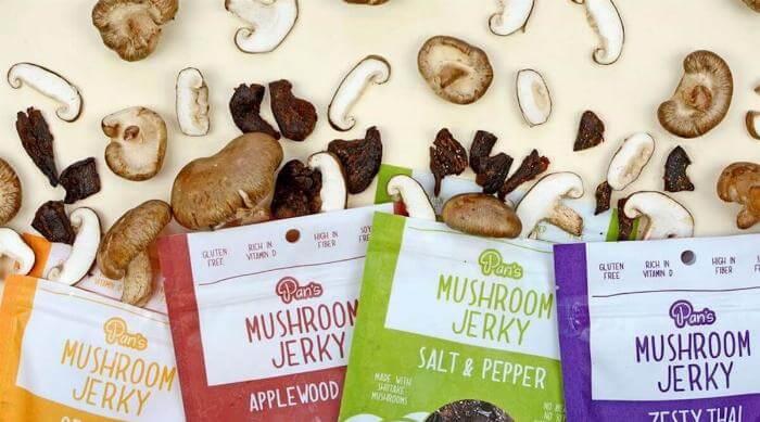 Instagram: Pan's Mushroom Jerky four varieties photo