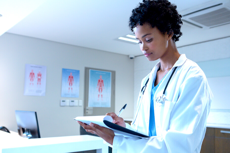 shutterstock-woman-doctor-taking-notes-032620