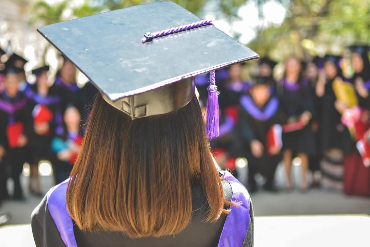 Girl in a Graduation Cap