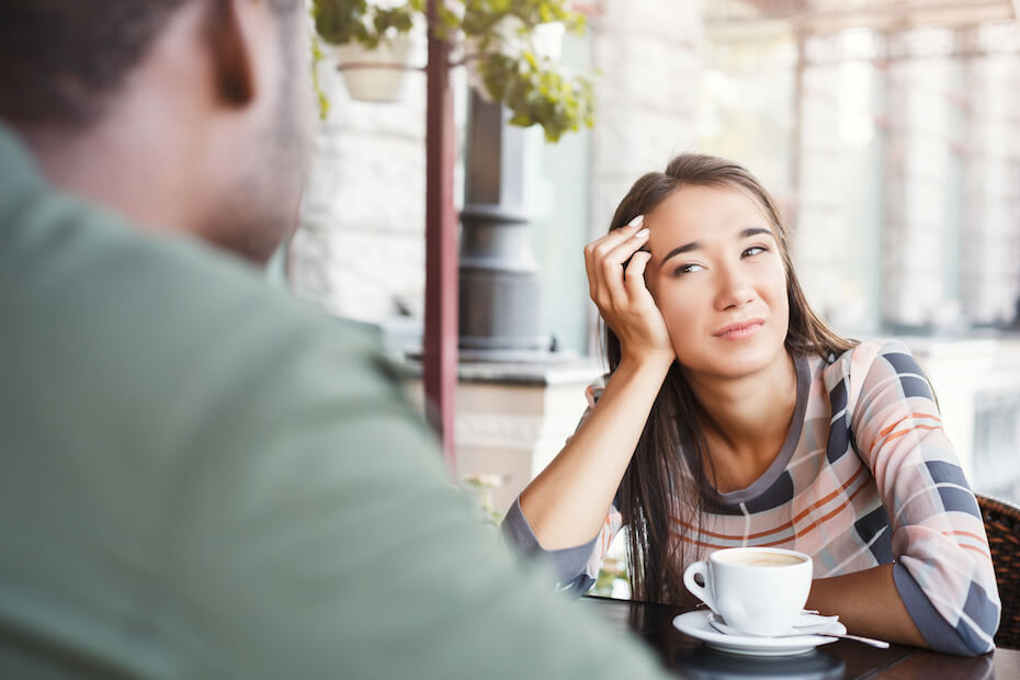 shutterstock-woman-bored-on-bad-date-drinking-coffee-040220