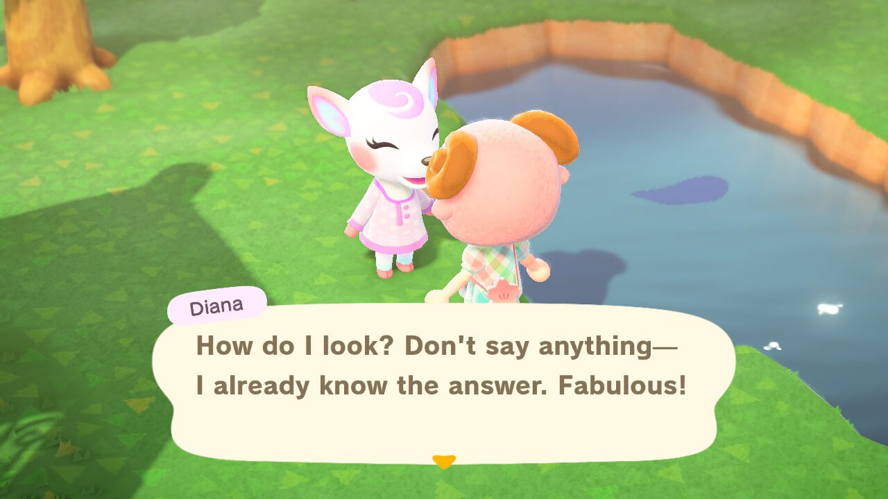 """Animal Crossing: New Horizons - Diana """"How do I look? Don't say anything—I already know the answer. Fabulous!"""""""