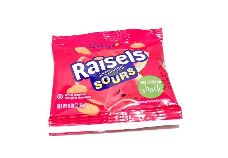 Raisels golden raisin sours watermelon