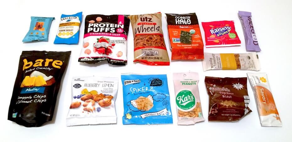 SnackNation box contents