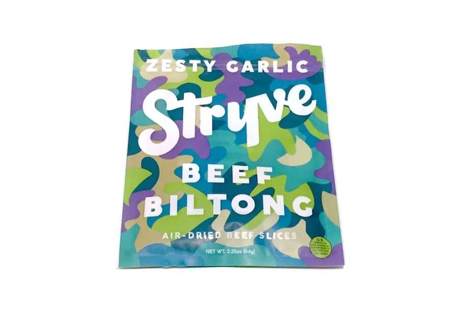 Stryve beef biltong zesty garlic