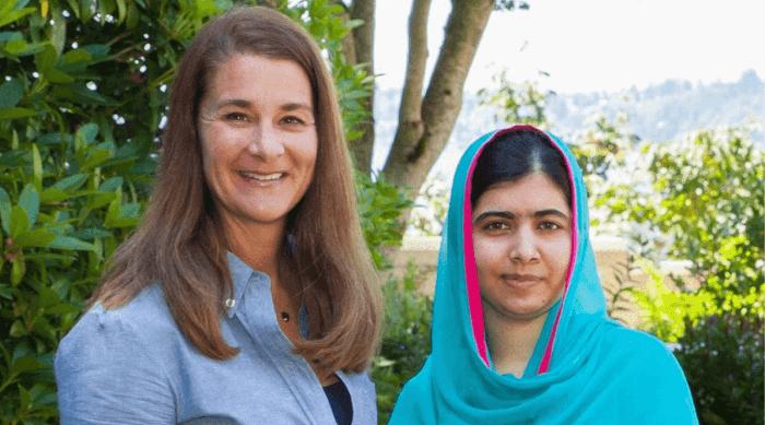 Melinda Gates and Malala Yousafzai