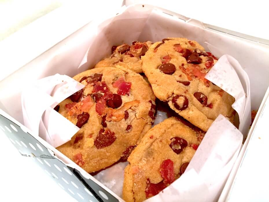 CurlyTop Baker Bacon Chocolate Chip cookies