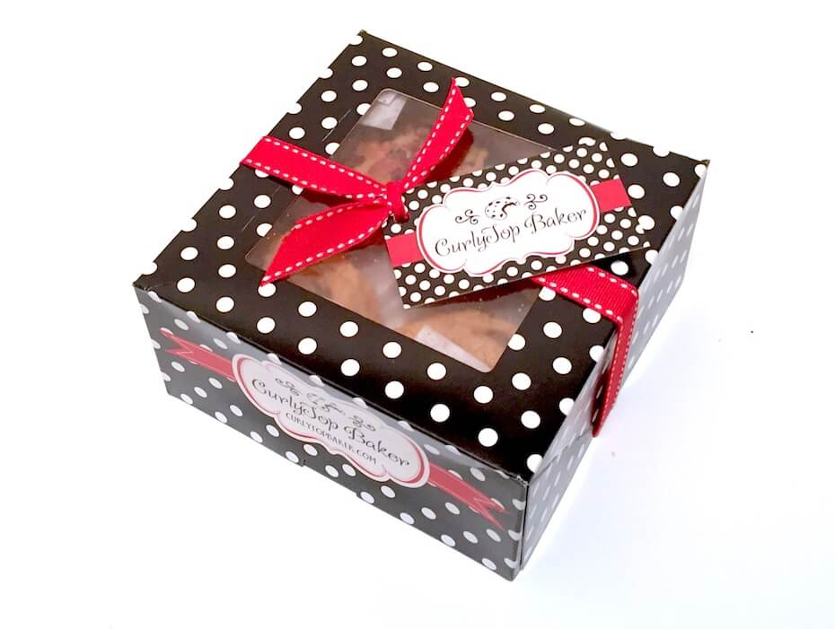 CurlyTop Baker Cookie Box
