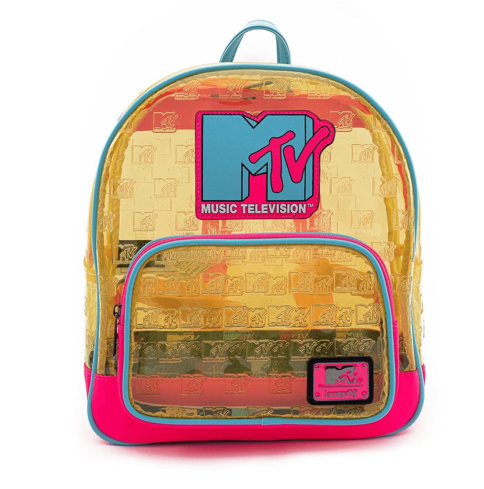 mtv plastic see-through mini backpack